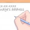 Comment adresser une lettre à un juge