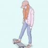 Comment être un patineur fille mignonne