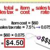 Comment calculer la taxe de vente