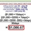 Comment calculer la charge financière sur un solde de carte de crédit