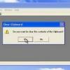 Comment faire pour effacer les fenêtres presse-papiers xp
