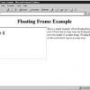 Comment créer des cadres flottants en html