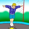 Comment faire un flip du genou sur un trampoline