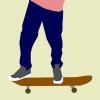 Comment faire une poussée sur une planche à roulettes