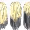 Comment teindre vos cheveux blonds et noir dessous