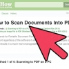 Comment envoyer un document numérisé