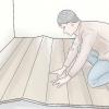Comment faire pour rechercher une fuite et réparer un plancher de bois bouclée