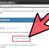 Comment réinitialiser votre mot de passe instagram