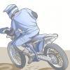 Comment monter un vélo de saleté dans le sable