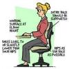 Comment asseoir devant un ordinateur