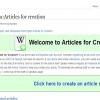 Comment soumettre un article à articles pour la création sur wikipedia