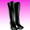 Comment porter genou hautes bottes noires